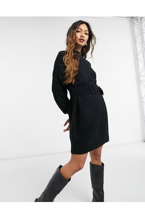 & OTHER STORIES Knitted belted dress in black