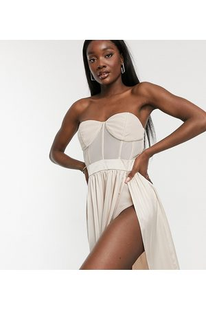 Jaded Rose Tall Corset detail midaxi dress in champagne