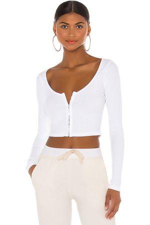 superdown Jackie long sleeve top en color talla L en - White. Talla L (también en M, S, XL, XS, XXS).