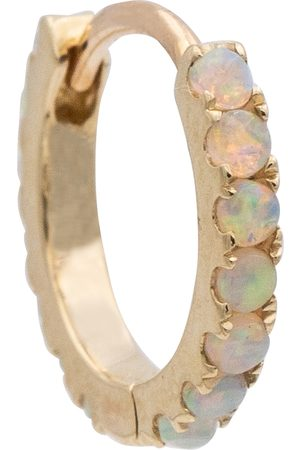 Maria Tash 18kt gold single hoop earring with opals