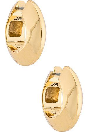 Jenny Mujer Aretes - Pendientes de aro wide hinged en color oro metálico talla all en - Metallic Gold. Talla all.