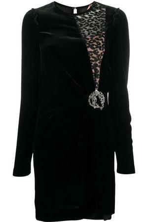 Nº21 Vestido con inserción de encaje con motivo de leopardo