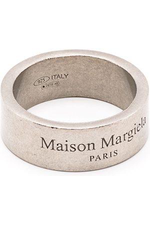 Maison Margiela Anillos - Anillo con logo grabado