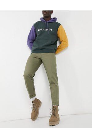 Burton Tapered crop trousers in khaki