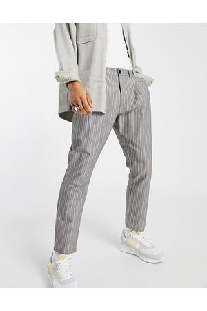 ASOS Cigarette fit trousers in textured stripe