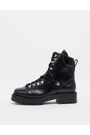 AllSaints Franka leather hiking boots in black