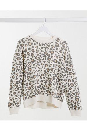 American Eagle Sweatshirt in leopard