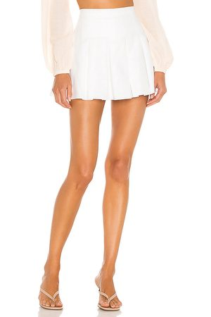 Amanda Uprichard Falda pantalón de lino dixon en color talla L en - White. Talla L (también en M, S, XS).