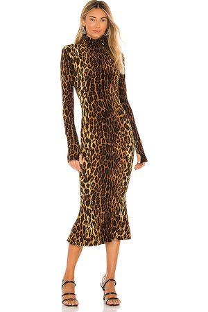 Norma Kamali Vestido midi en color marrón talla L en - Brown. Talla L (también en M, S, XS).