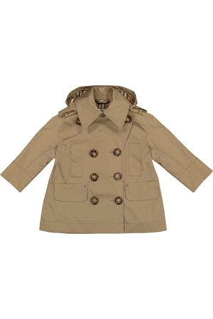 Burberry Hooded cotton twill trench coat
