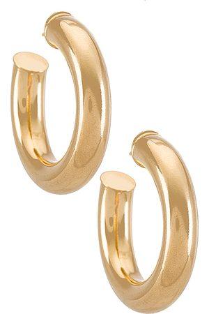 Martha Calvo Pendientes de aro tubular en color oro metálico talla all en - Metallic Gold. Talla all.