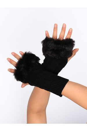 YOINS Faux Fur Knitted Gloves