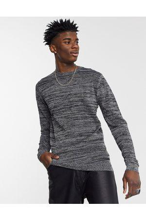 ASOS Knitted mesh jumper in silver metallic yarn