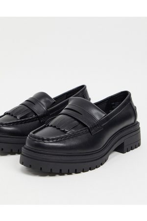 ASOS Melon chunky loafers in black