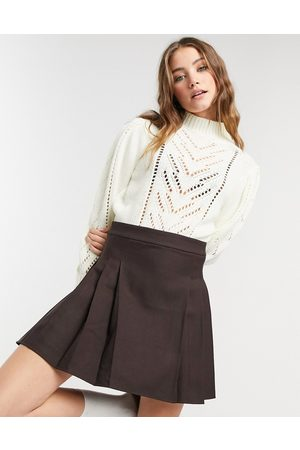 QED London Pointelle jumper in ivory