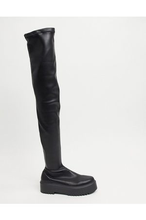 ASOS Mujer Botas altas - Katie chunky over the knee boots in black