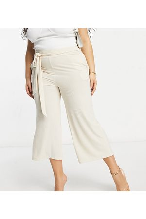 Lasula Ribbed wide leg trouser in