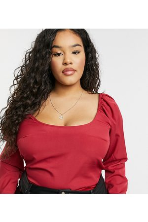 In The Style X Jac Jossa scoop neck body in red