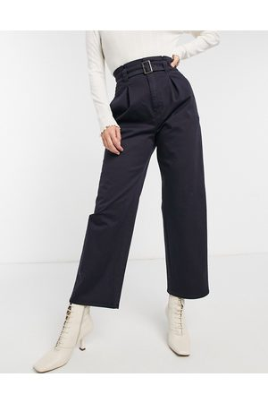 & OTHER STORIES Wide leg trousers in navy