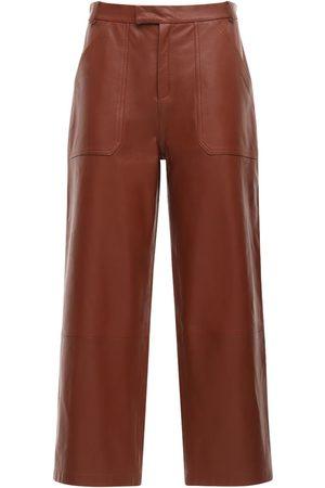 Zeynep Arcay Pantalones Cropped Anchos De Piel