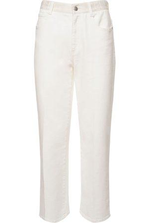 Stella McCartney Jeans Rectos De Denim De Algodón Orgánico