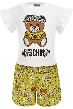 Moschino Camiseta Y Shorts Con Estampado De Teddy Bear