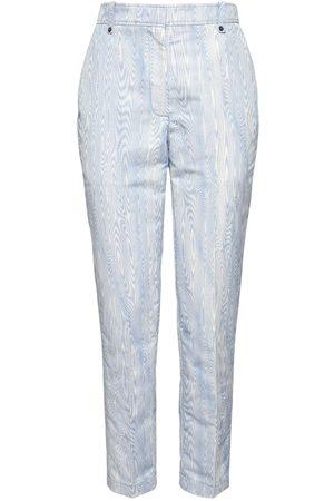 Rochas Pantalones Crop Slim Fit De Jacquard Moaré