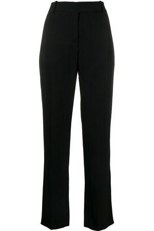 VALENTINO Pantalones rectos con tiro alto