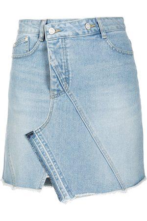 SJYP Mujer De mezclilla - Falda de mezclilla asimétrica