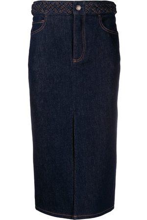 Chloé Mujer Midi - Falda midi de mezclilla
