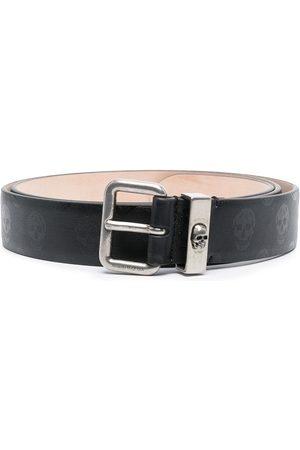 Alexander McQueen Hombre Cinturones - Cinturón con estampado de calaveras