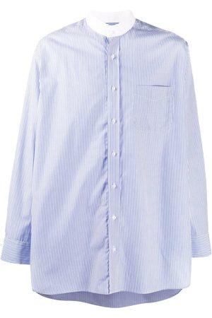 MACKINTOSH Hombre Camisas - Camisa a rayas con cuello mao