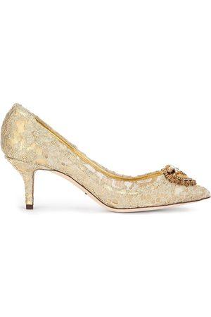 Dolce & Gabbana Zapatillas de encaje con detalles