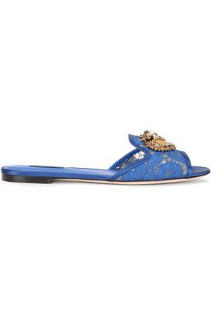 Dolce & Gabbana Sandalias slip-on con apliques