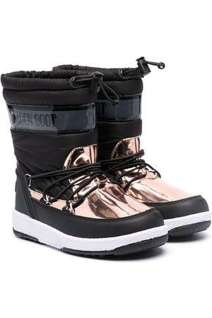 Moon Boot Metallic panel snow boots