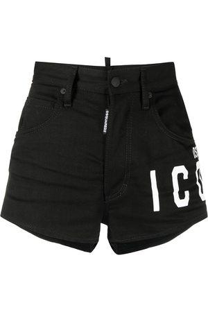 Dsquared2 Shorts de mezclilla con logo estampado