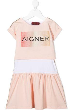 Aigner Niña Vestidos - Vestido con logo de manga corta