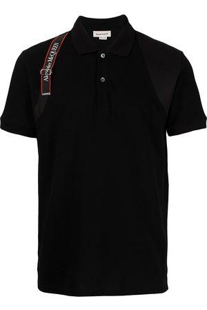 Alexander McQueen Hombre Polos - Playera tipo polo con franjas del logo