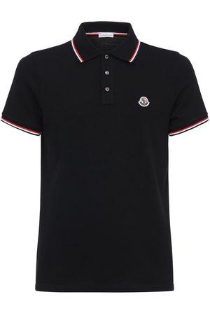 Moncler Camiseta Polo De Algodón Piqué