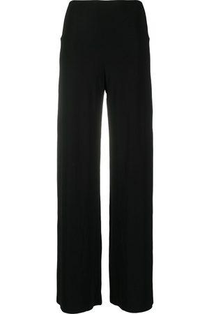 Norma Kamali Pantalones anchos con tiro medio