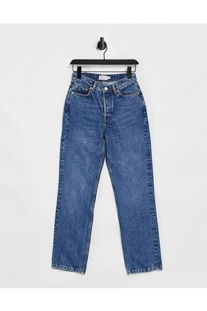& OTHER STORIES Keeper organic cotton straight cropped jeans in krepart blue