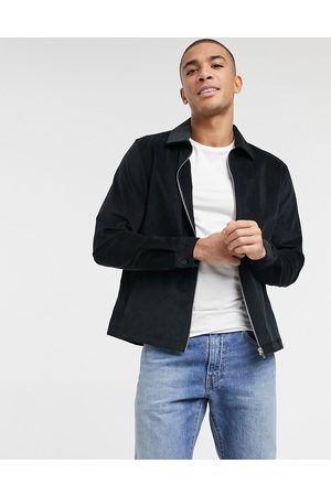 River Island Cord overshirt in black