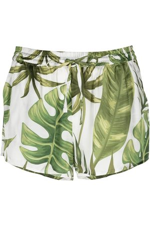 MC2 SAINT BARTH Shorts con motivo de hojas tropicales