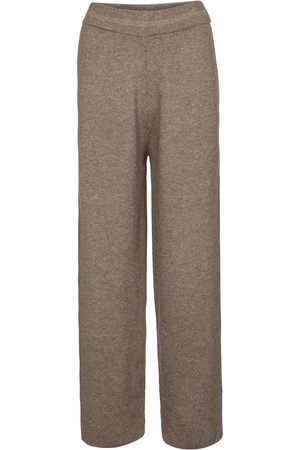 Frankie Shop Mujer Anchos y de harem - Ribbed-knit wide-leg pants