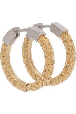 Maison Margiela Embossed hoop earrings