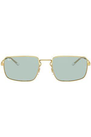 Ray-Ban Gafas de sol evolve rectangle en color metallic gold,blue talla all en - Metallic Gold,Blue. Talla all.
