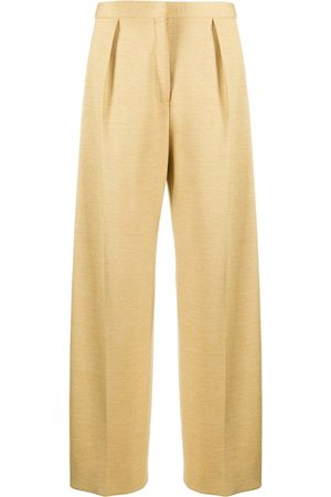 Jil Sander Mujer Con pinzas - Pantalones de tiro alto con pinzas