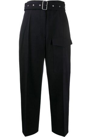 Jil Sander Pantalones anchos con cinturón