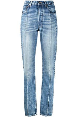Maison Margiela Mujer Rectos - Jeans con detalles de costuras