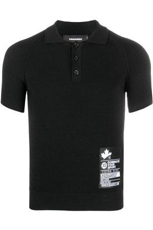 Dsquared2 Hombre Polos - Playera tipo polo con parche del logo